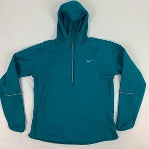 Nike Womens Dryfit 1/4 Zip Fleeced lined Pullover.